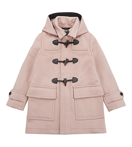 BURBERRY Burwood wool duffle coat 4-14 years (Pale+rose