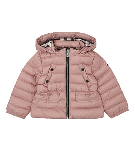 BURBERRY Bronywn puffa jacket 6-36 months (Pale+rose