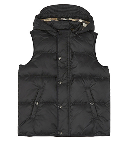 BURBERRY Carlton hooded gilet 4-14 years (Black