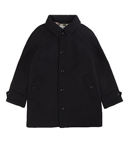 BURBERRY Bensham wool-blend trench coat (Navy