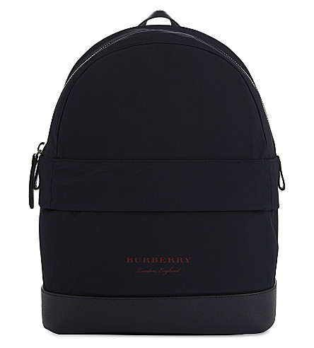 BURBERRY Nico nylon backpack (Ink