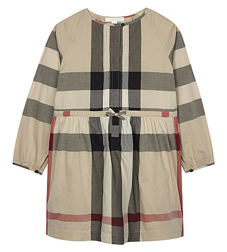 BURBERRY Agnes cotton frill dress 4-14 years (New+classic+check