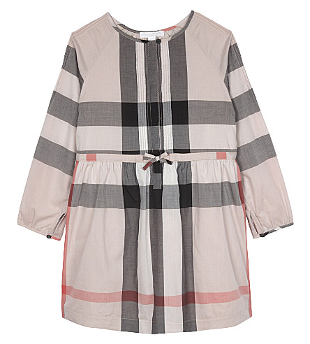 BURBERRY Agnes cotton frill dress 4-14 years (Vintage+pink