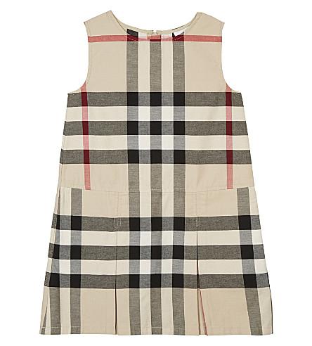 BURBERRY Dawny cotton dress 4-14 years (Stone