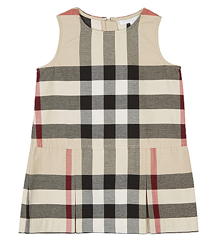BURBERRY Dawny cotton dress 6-48 months (Stone