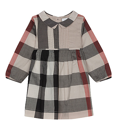 BURBERRY Liz pleated cotton dress 6-36 months (Vintage+pink