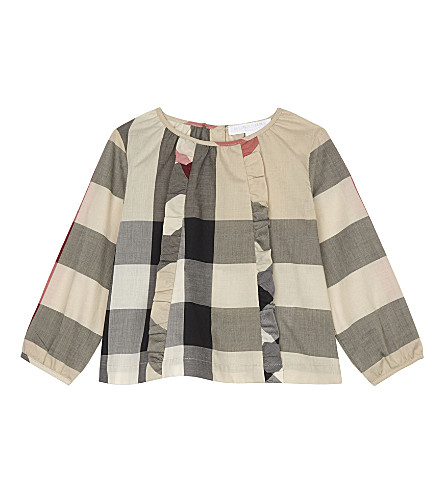 BURBERRY Aggatha cotton blouse 6-36 months (New+classic+check