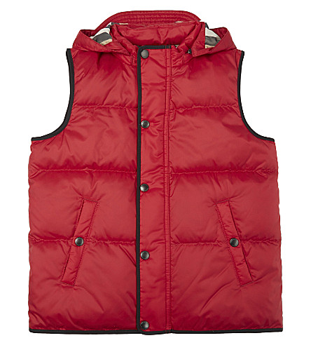 BURBERRY Carlton hooded gilet 4-14 years (Parade+red