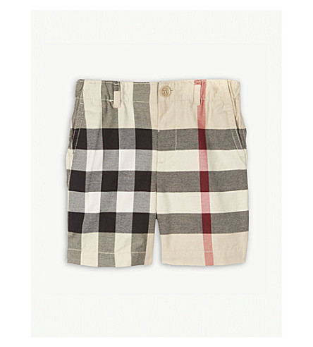 BURBERRY Sean cotton shorts 6-36 months (Stone