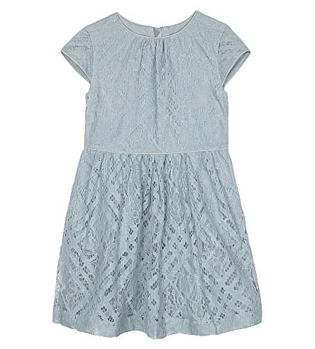 BURBERRY Ramona lace cotton dress 4-14 years (Pale+slate+blue