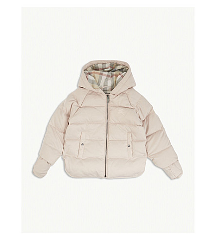 BURBERRY Rilla quilted puffer jacket 3-24 months (Powder+pink