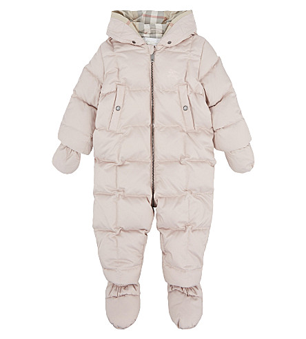 BURBERRY Skylar down snowsuit 3-18 months (Powder+pink
