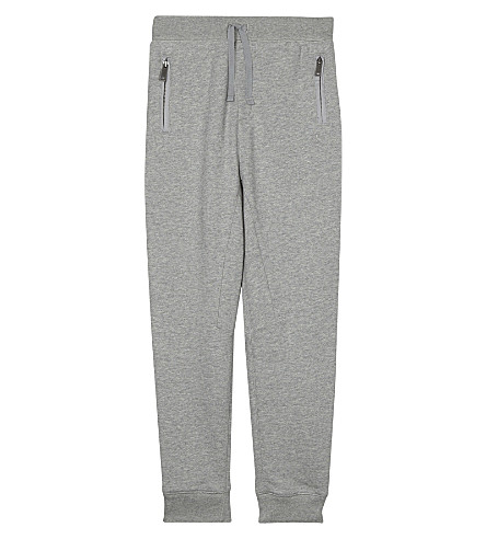 BURBERRY Cotton track pants 4-14 years (Grey+melange