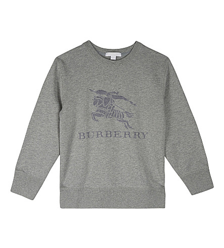 BURBERRY Tom cotton sweater 4-14 years (Grey+melange