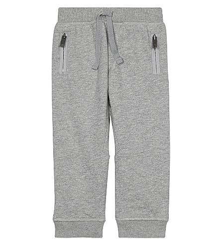 BURBERRY Cotton jogging bottoms 6-36 months (Grey+melange