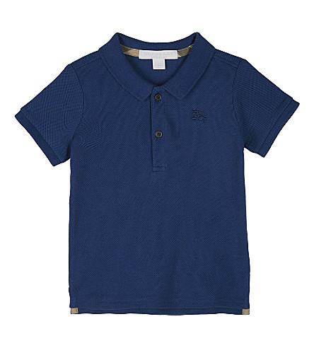 BURBERRY Palmer cotton polo shirt 6-36 months (Marine+blue