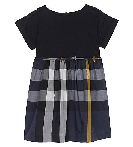 BURBERRY Rhonda cotton dress 4-14 years (Pale+navy