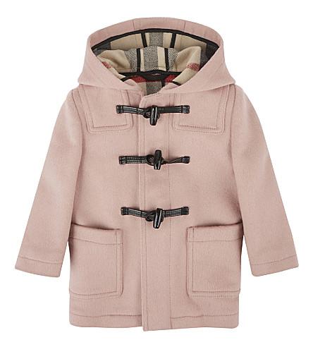 BURBERRY Brogan wool duffle coat 12-36 months (Pale+rose