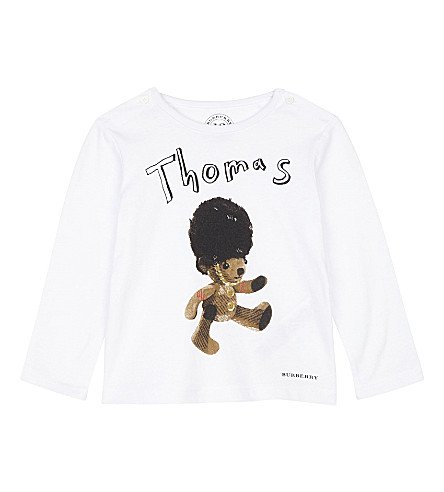 BURBERRY Thomas Bear cotton top 6-36 months (White