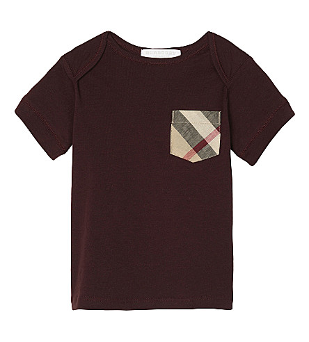 BURBERRY Callum cotton T-shirt 6-36 months (Oxblood