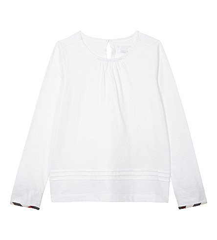 BURBERRY Gisselle cotton long-sleeved top 4-14 years (White