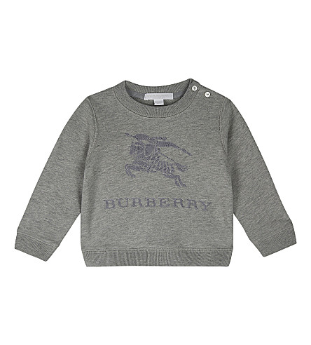 BURBERRY Tom cotton sweater 6-36 months (Grey+melange