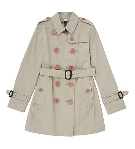 BURBERRY Sandringham cotton trench coat (Stone