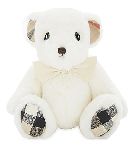 BURBERRY 毛绒泰迪熊 (白色