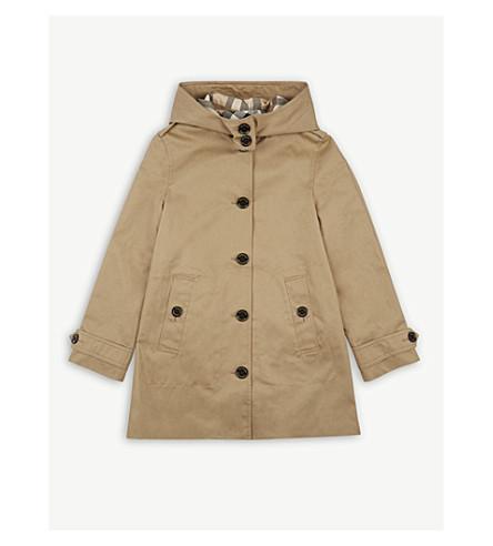 BURBERRY Geri trench coat 4-14 years (Honey
