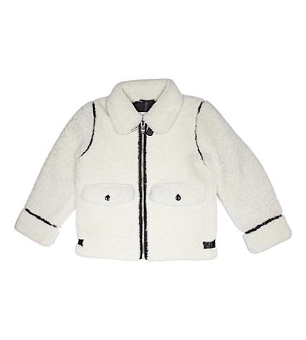 BURBERRY Shearling aviator jacket 8-14 years (Natural+white