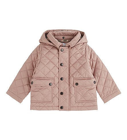 BURBERRY Jamie quilted jacket 6-48 months (Pale+rose