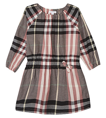 BURBERRY Kadyann cotton dress 4-14 years (Dusty+pink