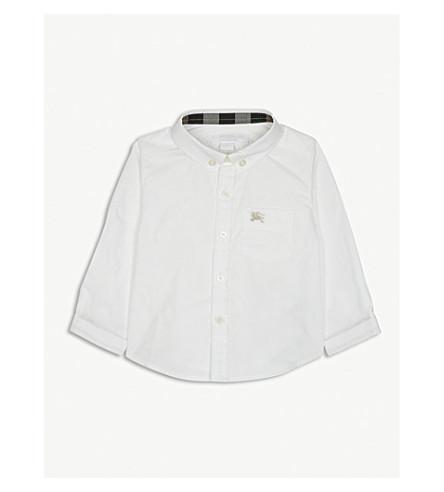 BURBERRY Cotton oxford shirt 6-36 months (White