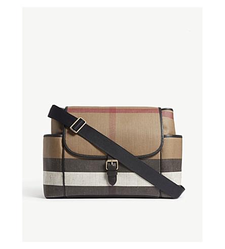 BURBERRY House Check changing bag (Black+check