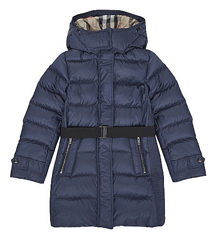 BURBERRY Dalesford padded coat 4-14 years (Navy