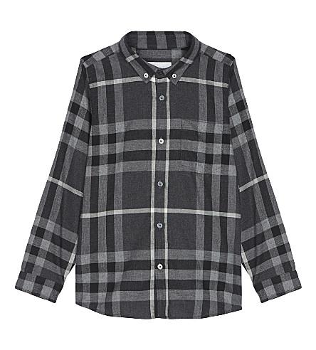 BURBERRY Check cotton shirt 4-14 years (Dark+grey+melange