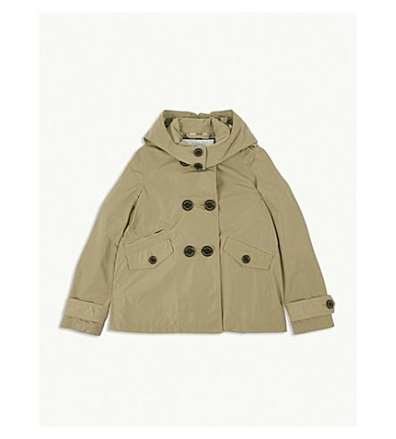 BURBERRY Hood trench coat 4-14 years (Honey