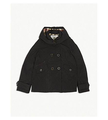 BURBERRY Margeretta hooded jacket 4-14 years (Black