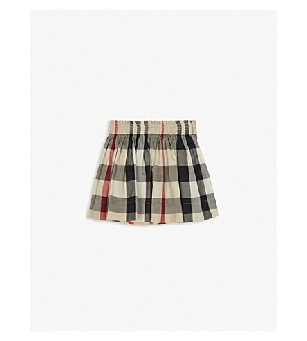BURBERRY Hala check print cotton skirt 4-14 years (New+classic+check