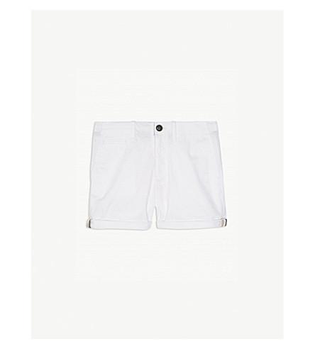 BURBERRY Chino cotton shorts 4-14 years (White