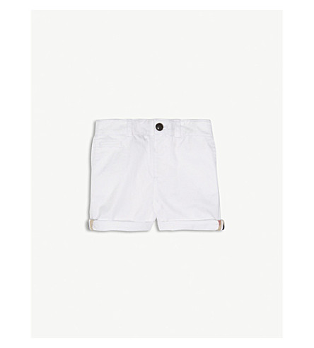 BURBERRY Chino cotton shorts 6-36 months (White