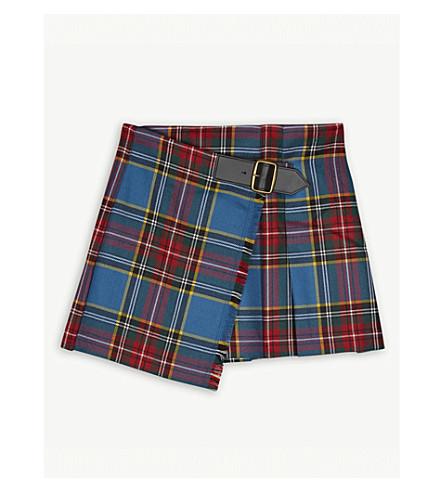 BURBERRY Wool kilt skirt 4-14 years (Cyan+blue