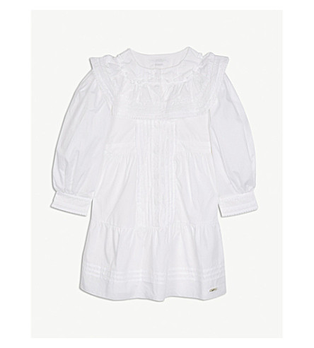 BURBERRY Delita cotton shirt dress 4-14 years (White