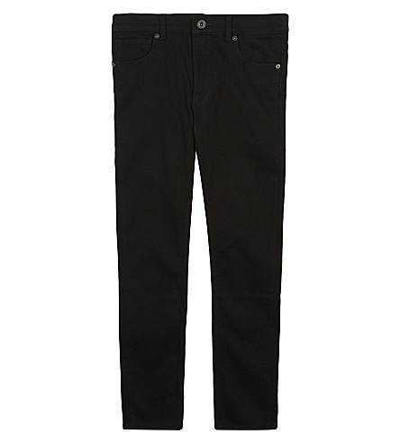 BURBERRY Logo skinny jeans 4-14 years (Black