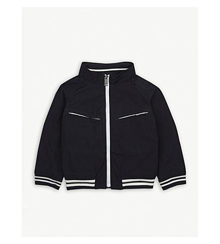 BURBERRY Contrast stripe lightweight coat 6-36 months (Navy