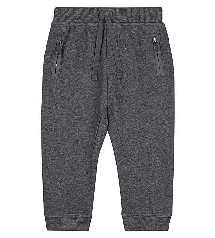 BURBERRY Cotton jogging bottoms 6-36 months (Charcoal