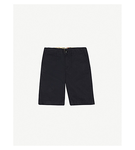 BURBERRY Tristen cotton chino shorts 4-14 years (Ink