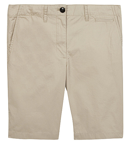 BURBERRY Tristen cotton chino shorts (Grey+stone