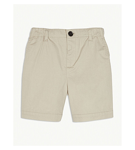 BURBERRY Sean cotton chino shorts 6-36 months (Grey+stone