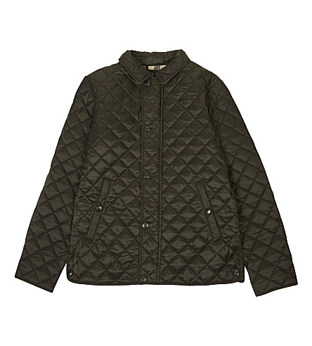 BURBERRY Luke quilted jacket 4-14 years (Olive